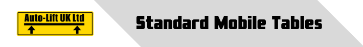 Standard Mobile Tables (Webpage Cover)