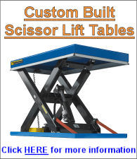 Custom built tables click for more info